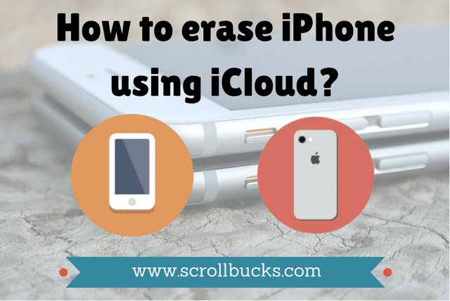 how to erase iphone using icloud