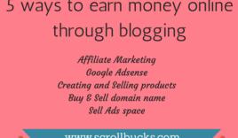 5 easiest ways to make money online through blogging