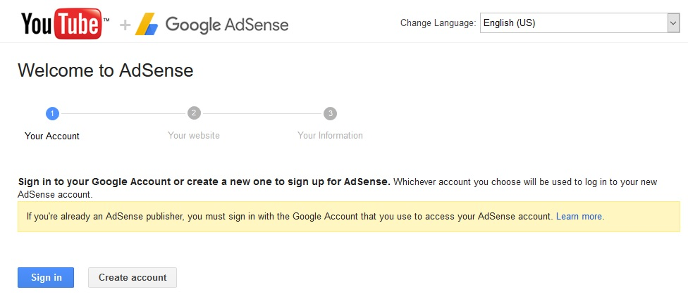 connect youtube to adsense