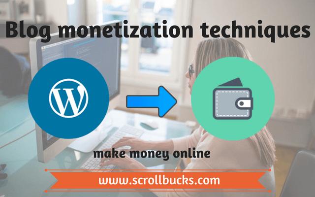 Blog monetization techniques