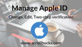 How to manage apple ID?