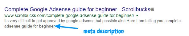 meta description in post