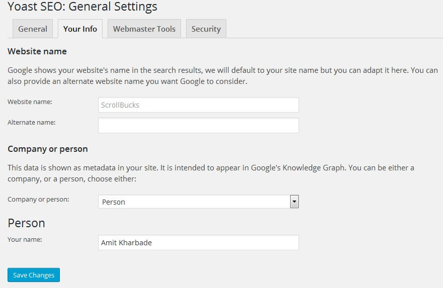 seo by yoast general setting