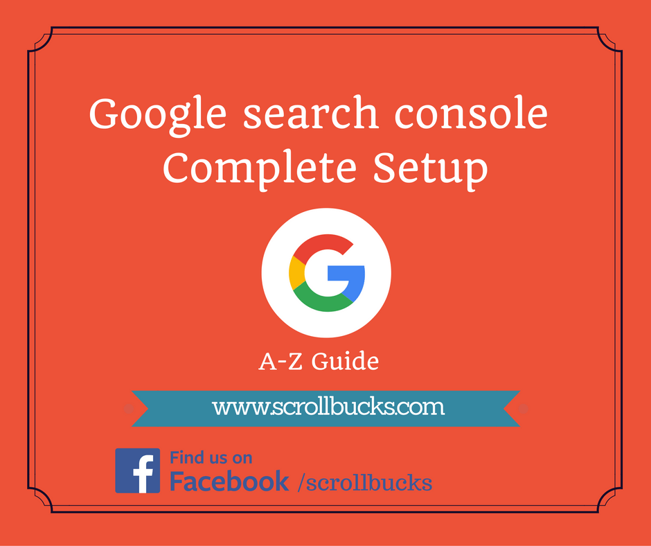 google search console complete setup