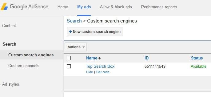 custom search box