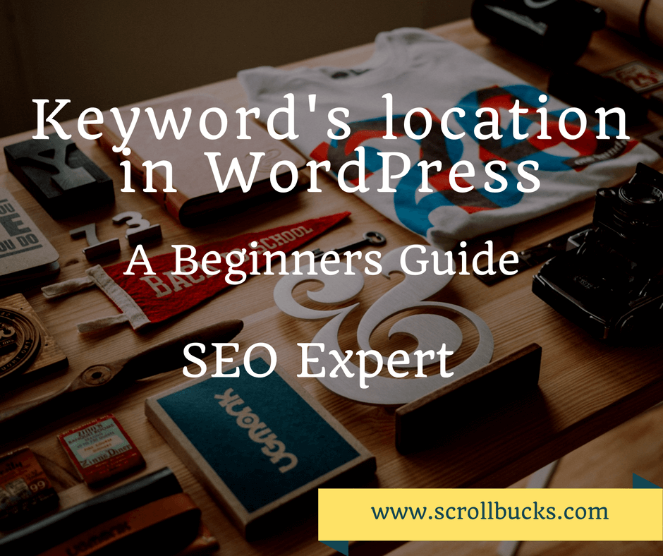 add keyword in WordPress blog post