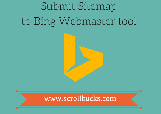 submit sitemap to bing webmaster tool