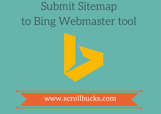 submit sitemap to bing webmaster tool