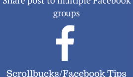 How to share Facebook post to multiple groups in single click?