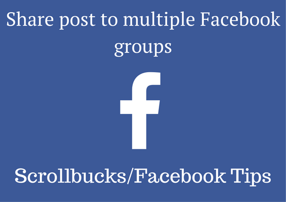 share post to multiple Facebook groups