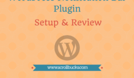 WordPress notification bar plugin setup and review