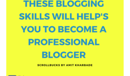 What skills required to become a professional Blogger?