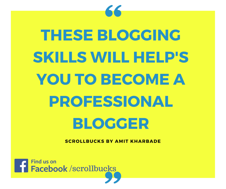 how to become professional blogger
