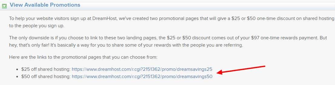 dreamhost affiliate links and coupons
