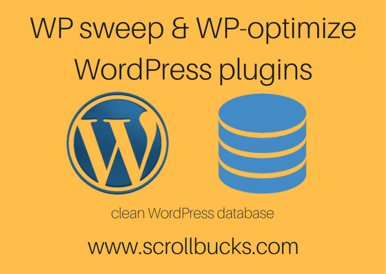 wp sweep and wp optimize
