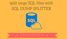 How to split large SQL file to import database easily?