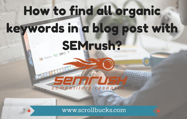 find organic keywords with semrush