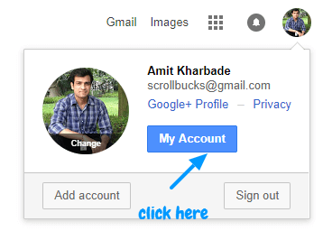 login to google without password