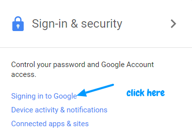 sign in to gmail without password