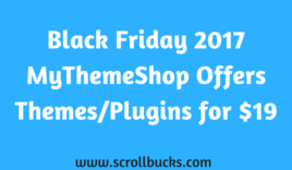 MyThemeShop Black Friday 2017 Offers- Any Theme/Plugins for $19 Only