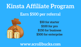 Kinsta Affiliate Program- Earn upto $500 per referral