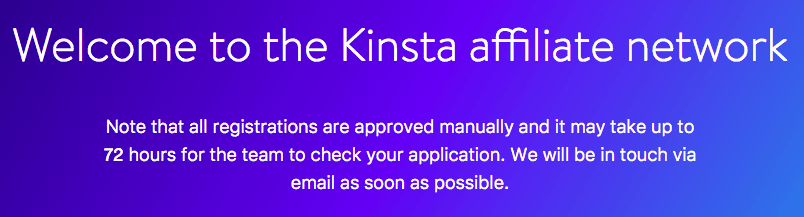Kinsta Affiliates program review