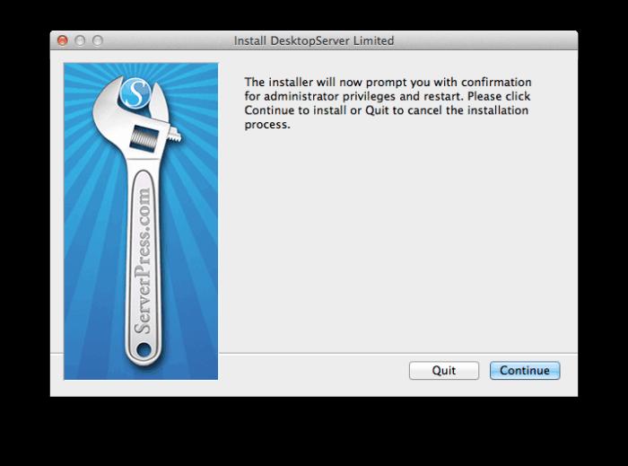 install desktopserver