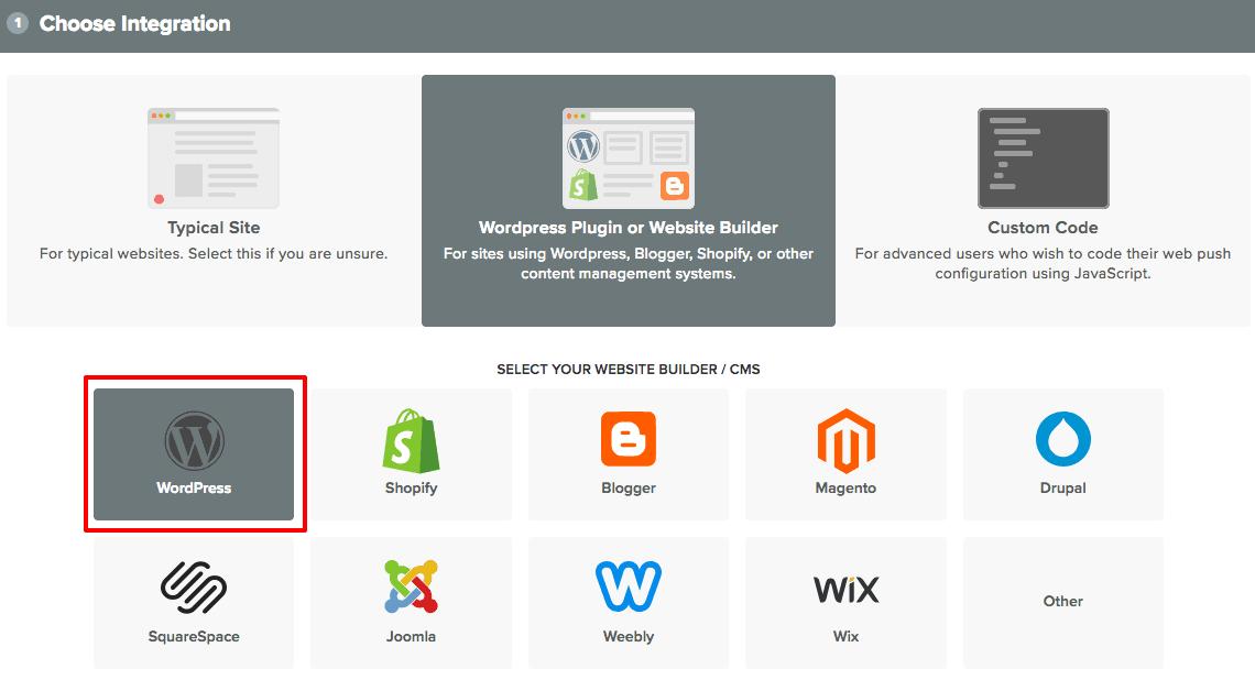 OneSignal using wordpress plugin