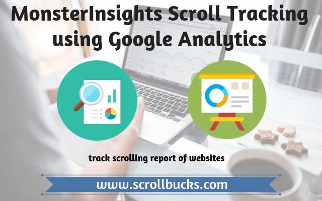 monsterinsights scroll tracking using google analytics