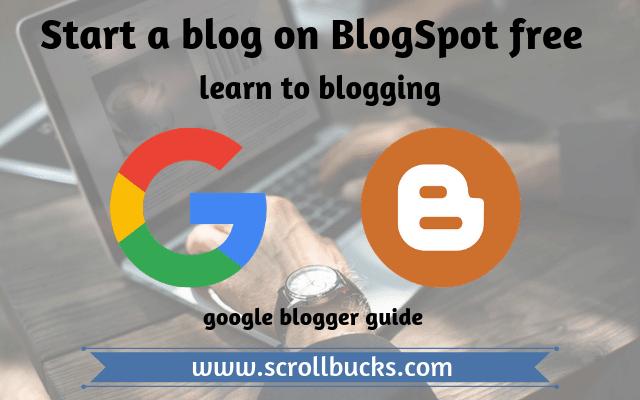 start a blog on blogspot free